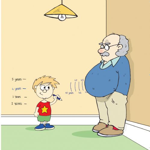 Twizler CAN62 - Grandad Belly Funny Blank Card